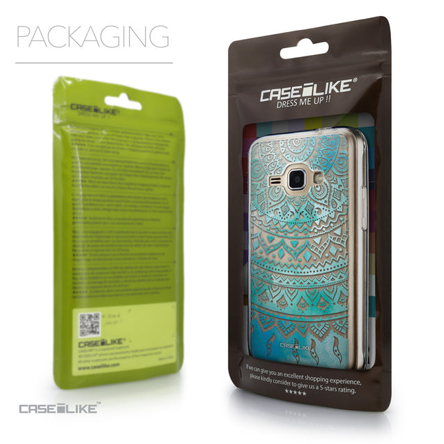 Packaging - CASEiLIKE Samsung Galaxy J1 (2016) back cover Indian Line Art 2066
