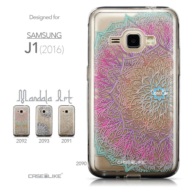 Collection - CASEiLIKE Samsung Galaxy J1 (2016) back cover Mandala Art 2090