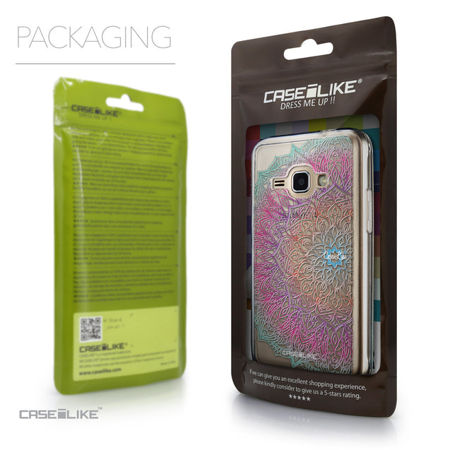 Packaging - CASEiLIKE Samsung Galaxy J1 (2016) back cover Mandala Art 2090