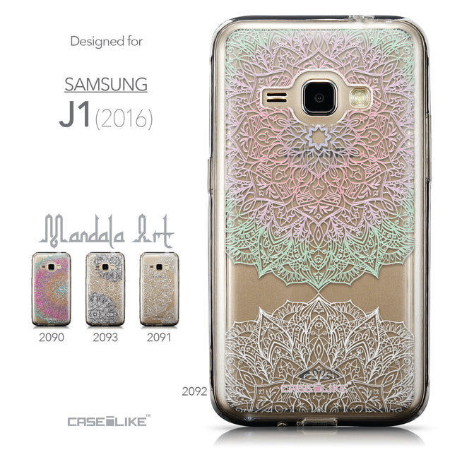 Collection - CASEiLIKE Samsung Galaxy J1 (2016) back cover Mandala Art 2092