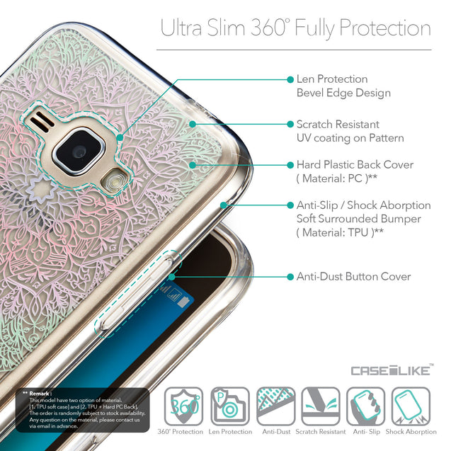 Details in English - CASEiLIKE Samsung Galaxy J1 (2016) back cover Mandala Art 2092