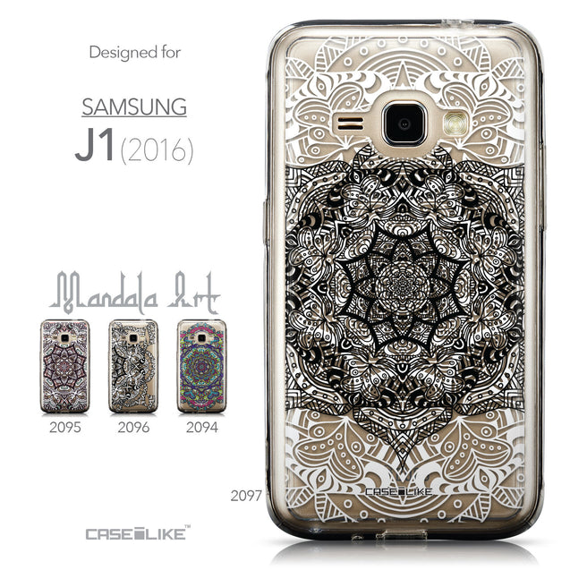 Collection - CASEiLIKE Samsung Galaxy J1 (2016) back cover Mandala Art 2097