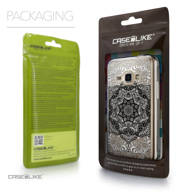 Packaging - CASEiLIKE Samsung Galaxy J1 (2016) back cover Mandala Art 2097