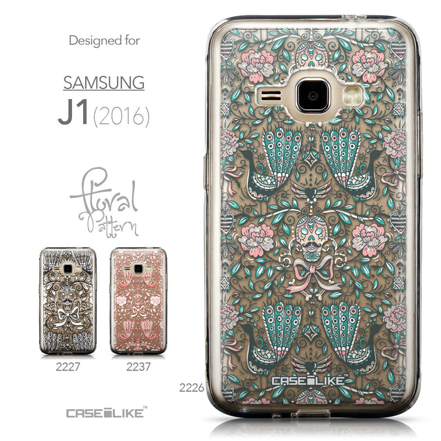 Collection - CASEiLIKE Samsung Galaxy J1 (2016) back cover Roses Ornamental Skulls Peacocks 2226