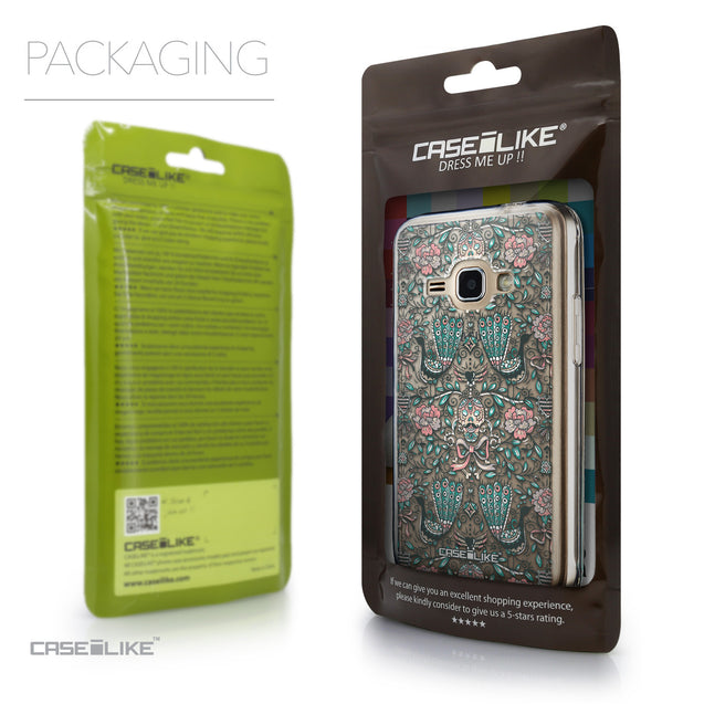 Packaging - CASEiLIKE Samsung Galaxy J1 (2016) back cover Roses Ornamental Skulls Peacocks 2226