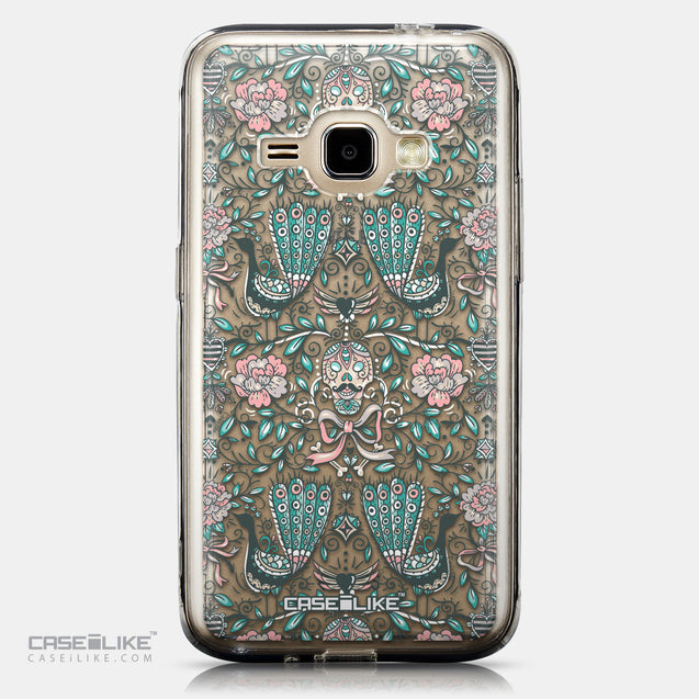 CASEiLIKE Samsung Galaxy J1 (2016) back cover Roses Ornamental Skulls Peacocks 2226