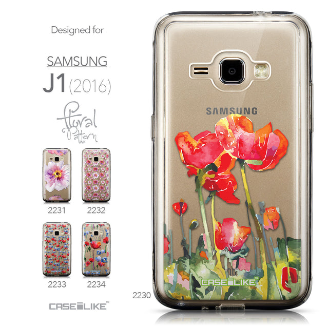 Collection - CASEiLIKE Samsung Galaxy J1 (2016) back cover Watercolor Floral 2230