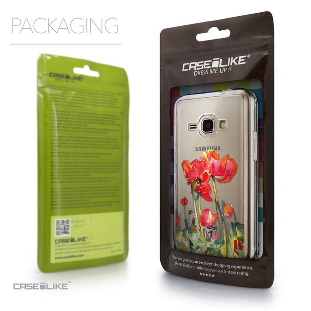 Packaging - CASEiLIKE Samsung Galaxy J1 (2016) back cover Watercolor Floral 2230