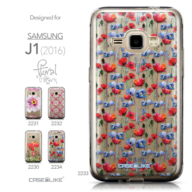 Collection - CASEiLIKE Samsung Galaxy J1 (2016) back cover Watercolor Floral 2233