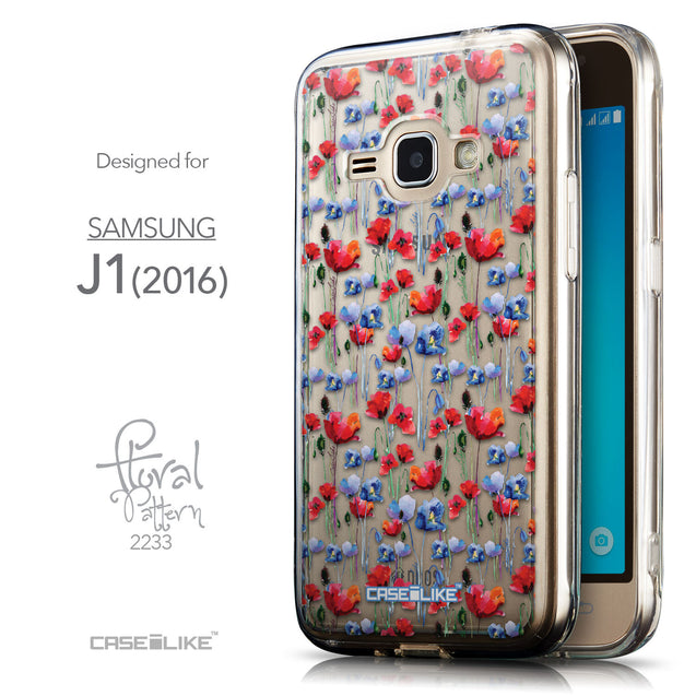 Front & Side View - CASEiLIKE Samsung Galaxy J1 (2016) back cover Watercolor Floral 2233