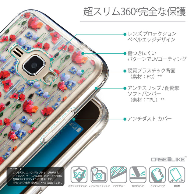 Details in Japanese - CASEiLIKE Samsung Galaxy J1 (2016) back cover Watercolor Floral 2233