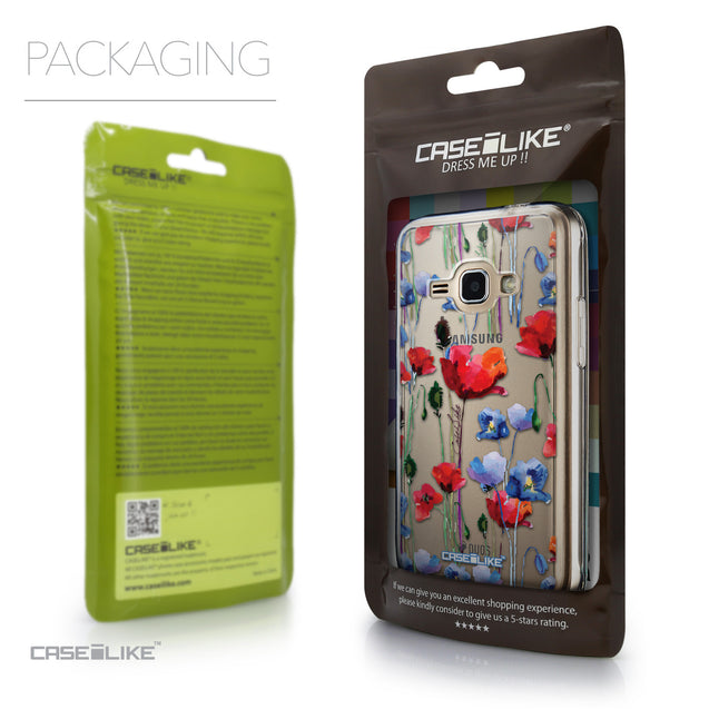 Packaging - CASEiLIKE Samsung Galaxy J1 (2016) back cover Indian Line Art 2061