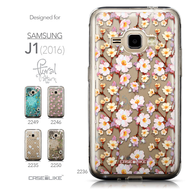 Collection - CASEiLIKE Samsung Galaxy J1 (2016) back cover Watercolor Floral 2236
