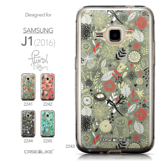 Collection - CASEiLIKE Samsung Galaxy J1 (2016) back cover Spring Forest Gray 2243