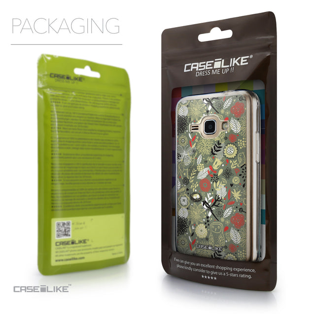 Packaging - CASEiLIKE Samsung Galaxy J1 (2016) back cover Spring Forest Gray 2243