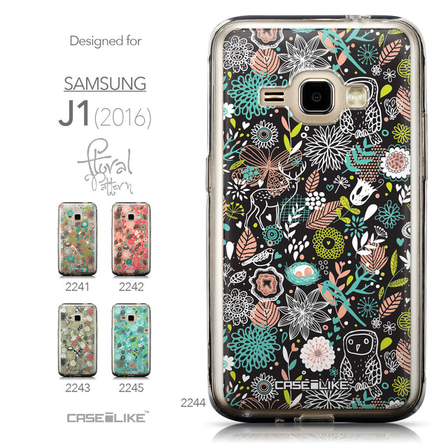 Collection - CASEiLIKE Samsung Galaxy J1 (2016) back cover Spring Forest Black 2244