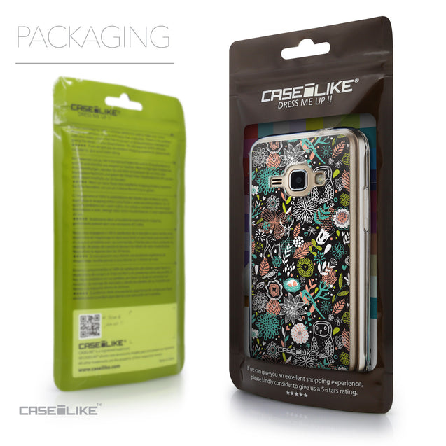 Packaging - CASEiLIKE Samsung Galaxy J1 (2016) back cover Spring Forest Black 2244