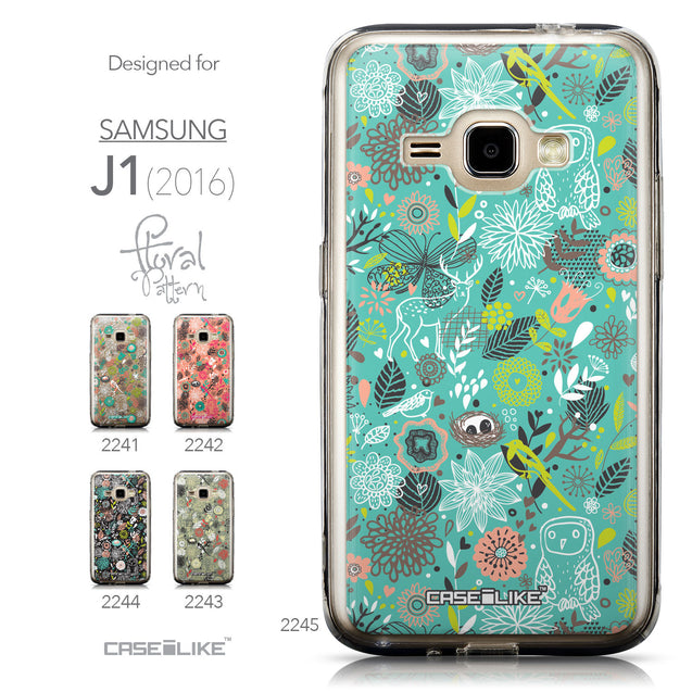 Collection - CASEiLIKE Samsung Galaxy J1 (2016) back cover Spring Forest Turquoise 2245