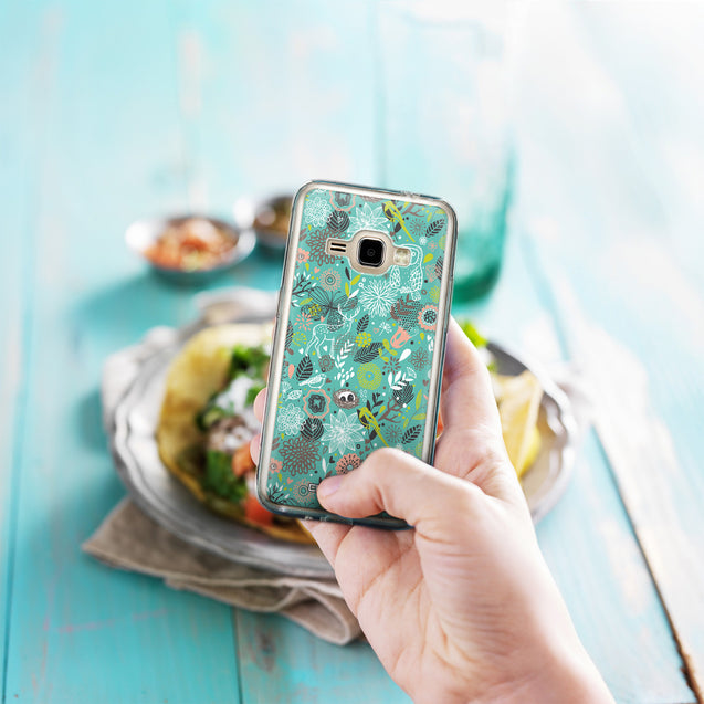 Share - CASEiLIKE Samsung Galaxy J1 (2016) back cover Spring Forest Turquoise 2245