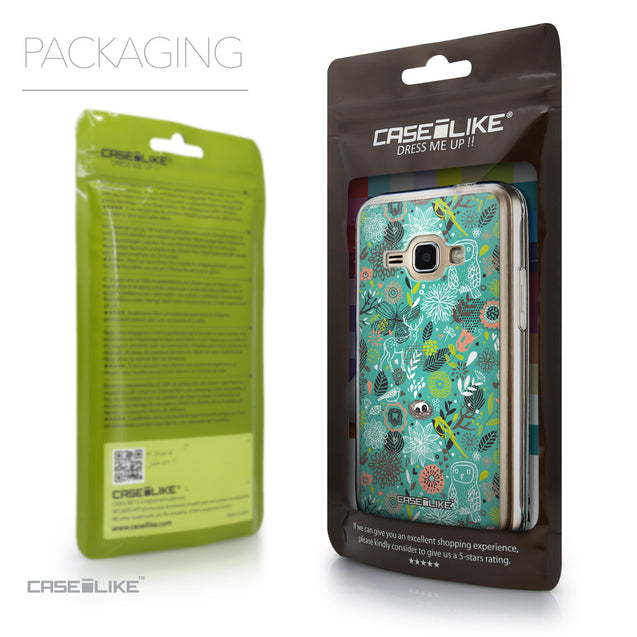 Packaging - CASEiLIKE Samsung Galaxy J1 (2016) back cover Spring Forest Turquoise 2245