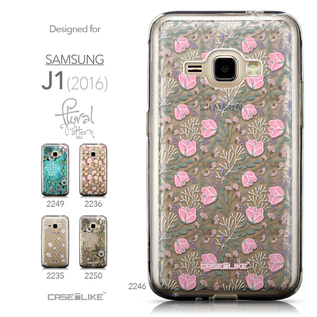 Collection - CASEiLIKE Samsung Galaxy J1 (2016) back cover Flowers Herbs 2246