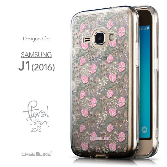 Front & Side View - CASEiLIKE Samsung Galaxy J1 (2016) back cover Flowers Herbs 2246