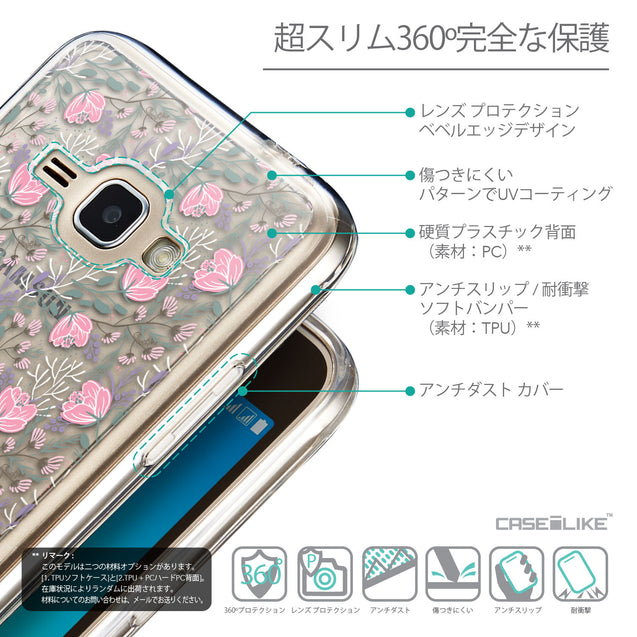 Details in Japanese - CASEiLIKE Samsung Galaxy J1 (2016) back cover Flowers Herbs 2246