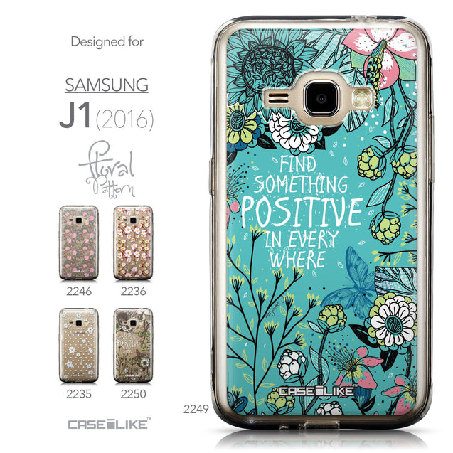 Collection - CASEiLIKE Samsung Galaxy J1 (2016) back cover Blooming Flowers Turquoise 2249