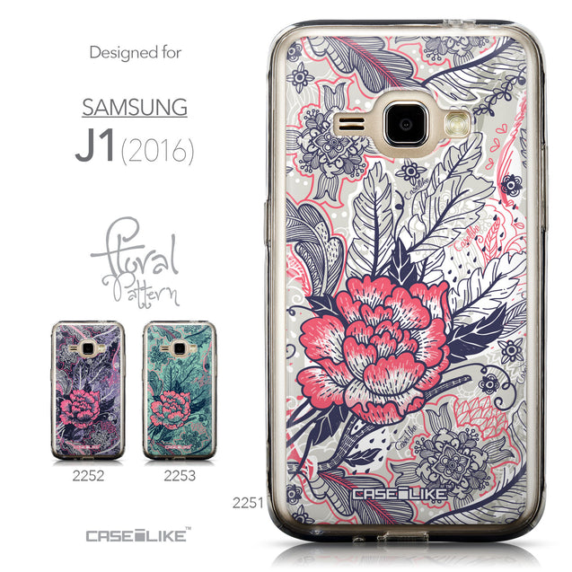 Collection - CASEiLIKE Samsung Galaxy J1 (2016) back cover Vintage Roses and Feathers Beige 2251