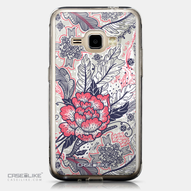 CASEiLIKE Samsung Galaxy J1 (2016) back cover Vintage Roses and Feathers Beige 2251