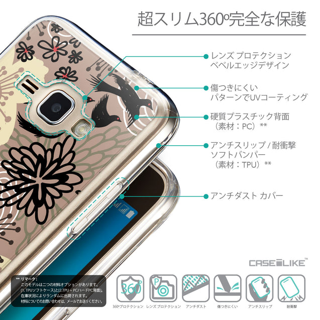 Details in Japanese - CASEiLIKE Samsung Galaxy J1 (2016) back cover Japanese Floral 2254