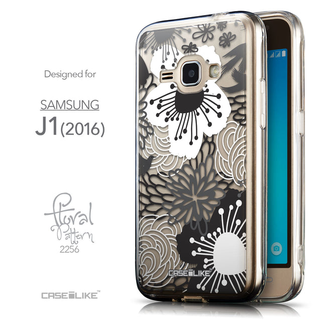 Front & Side View - CASEiLIKE Samsung Galaxy J1 (2016) back cover Japanese Floral 2256