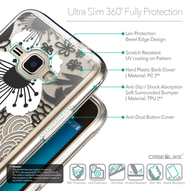 Details in English - CASEiLIKE Samsung Galaxy J1 (2016) back cover Japanese Floral 2256