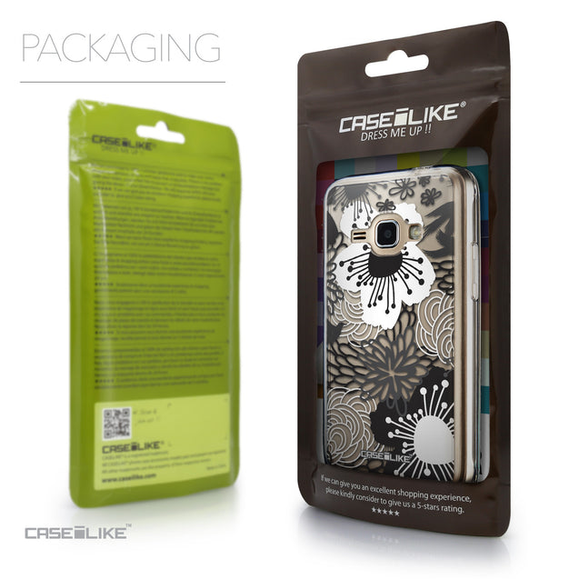Packaging - CASEiLIKE Samsung Galaxy J1 (2016) back cover Japanese Floral 2256