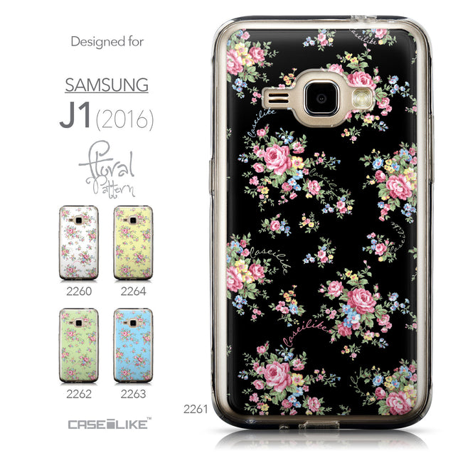 Collection - CASEiLIKE Samsung Galaxy J1 (2016) back cover Floral Rose Classic 2261