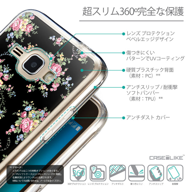 Details in Japanese - CASEiLIKE Samsung Galaxy J1 (2016) back cover Floral Rose Classic 2261