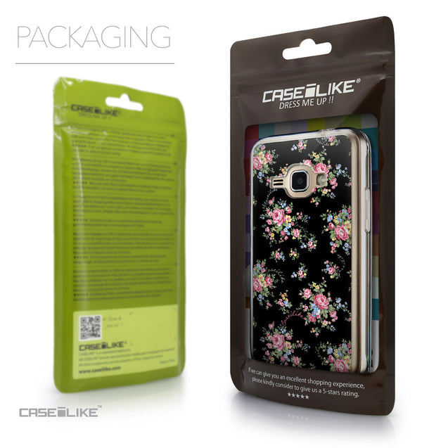 Packaging - CASEiLIKE Samsung Galaxy J1 (2016) back cover Floral Rose Classic 2261