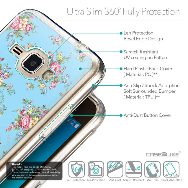 Details in English - CASEiLIKE Samsung Galaxy J1 (2016) back cover Floral Rose Classic 2263