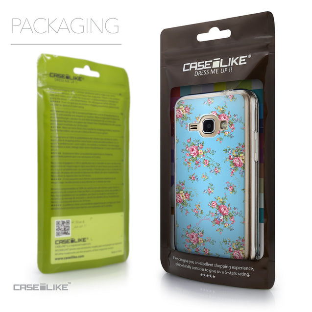 Packaging - CASEiLIKE Samsung Galaxy J1 (2016) back cover Floral Rose Classic 2263