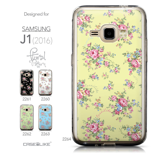 Collection - CASEiLIKE Samsung Galaxy J1 (2016) back cover Floral Rose Classic 2264