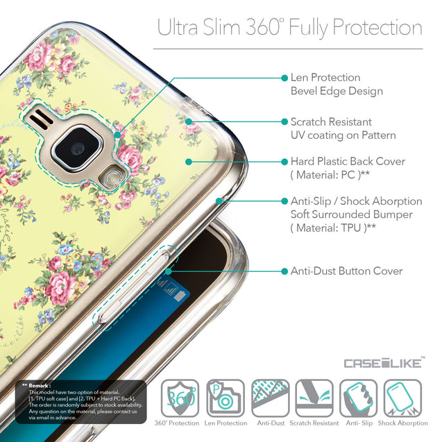 Details in English - CASEiLIKE Samsung Galaxy J1 (2016) back cover Floral Rose Classic 2264