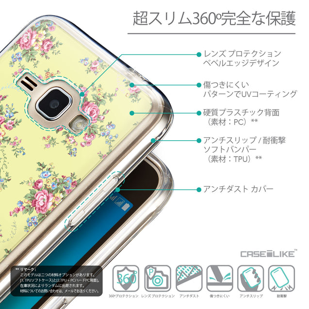 Details in Japanese - CASEiLIKE Samsung Galaxy J1 (2016) back cover Floral Rose Classic 2264