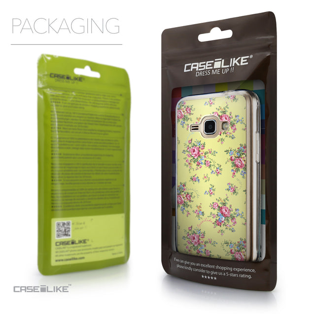 Packaging - CASEiLIKE Samsung Galaxy J1 (2016) back cover Floral Rose Classic 2264