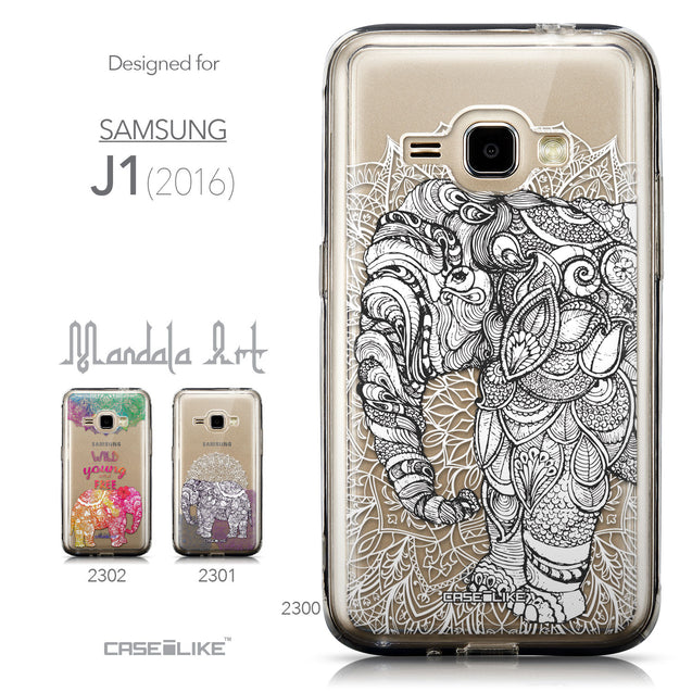 Collection - CASEiLIKE Samsung Galaxy J1 (2016) back cover Mandala Art 2300