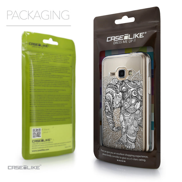 Packaging - CASEiLIKE Samsung Galaxy J1 (2016) back cover Mandala Art 2300