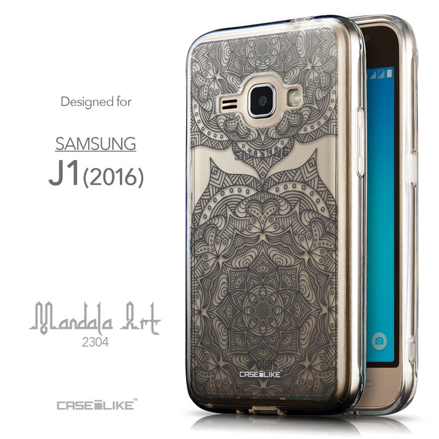 Front & Side View - CASEiLIKE Samsung Galaxy J1 (2016) back cover Mandala Art 2304