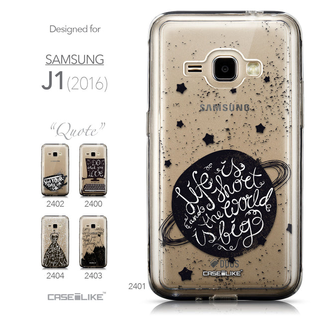Collection - CASEiLIKE Samsung Galaxy J1 (2016) back cover Quote 2401
