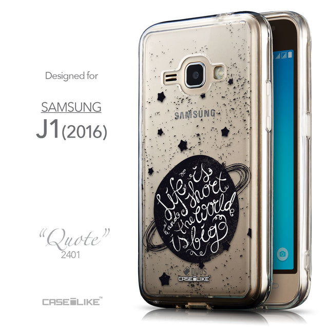 Front & Side View - CASEiLIKE Samsung Galaxy J1 (2016) back cover Quote 2401