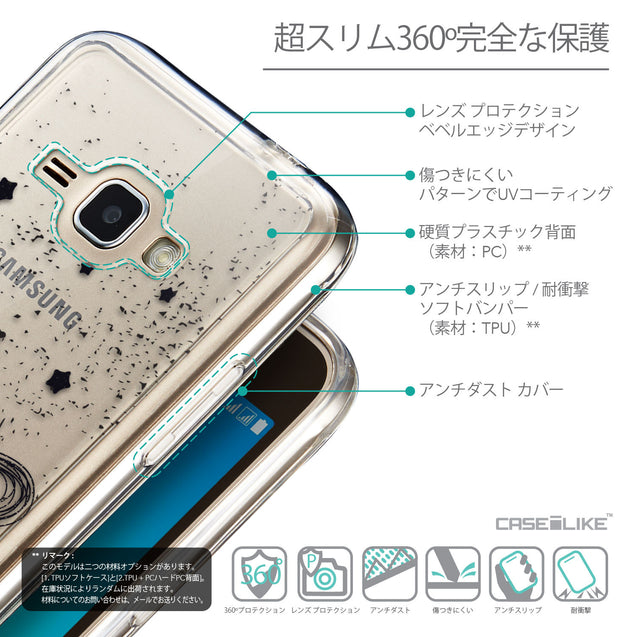 Details in Japanese - CASEiLIKE Samsung Galaxy J1 (2016) back cover Quote 2401