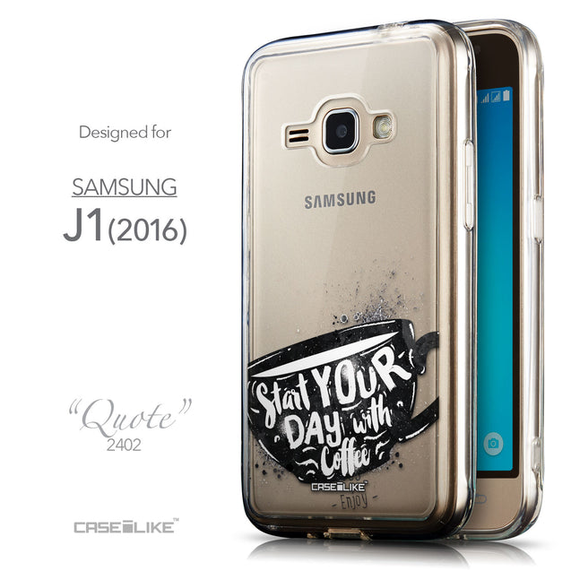 Front & Side View - CASEiLIKE Samsung Galaxy J1 (2016) back cover Quote 2402